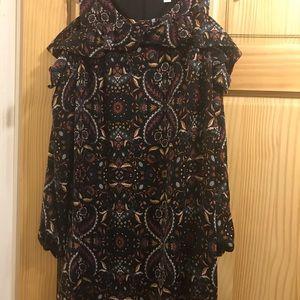 Xhilaration maxi dress with peekaboo sleeve